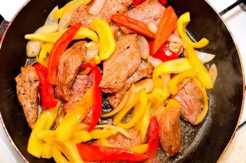 Fajitas con carne de ternera